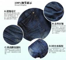 牛仔裤细节图展示图