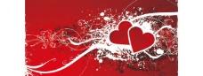情人节爱心矢量图图片