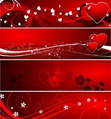 情人节背景矢量图图片