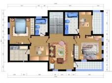 2层卧室家庭客厅图片