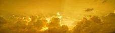 黃金色雲彩图片