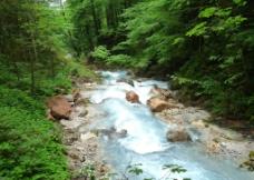 山间小溪摄影图图片