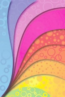 丰富多彩的背景矢量弧