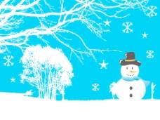 snowflaks圣诞背景