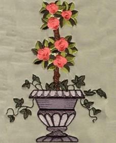 绣花 植物 树 花 色彩 免费素材
