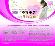 医院宣传图片预防不育不孕宣传画PSD