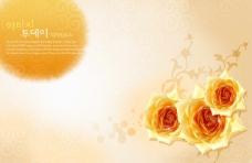黄色玫瑰 平面设计图