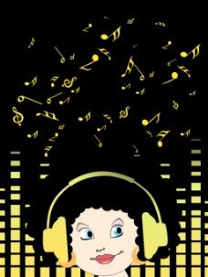 向量的音乐背景说明