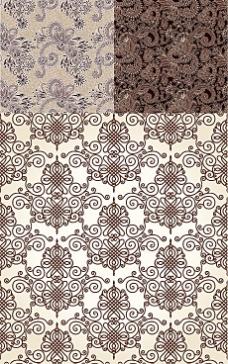古典花纹中国结底纹背景矢量素材
