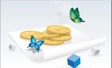 商务金融类插画 金币