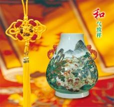 文化展板设计和气致祥中国风