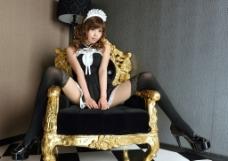 女仆装美女图片