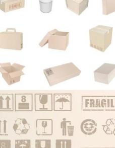 盒包装和标志的收集