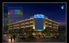 建筑灯光亮化图片