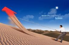 文化展板设计沙漠里的箭头