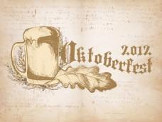 啤酒节庆祝活动向量