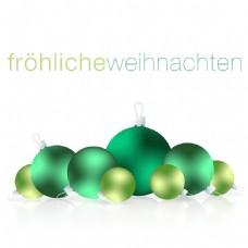 德国的圣诞饰品卡矢量格式