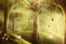 森林动漫图片