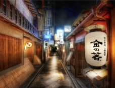 日本小巷图片