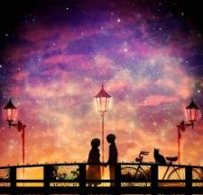 星空下图片
