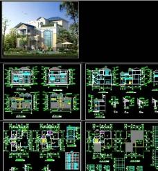 三层别墅施工图图片