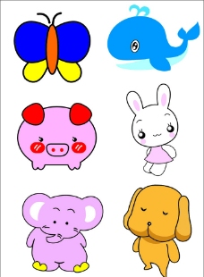 小动物矢量图形图片
