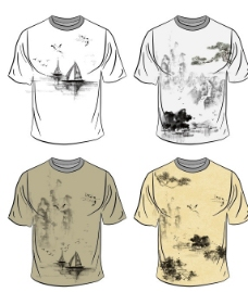 水墨画T恤图片
