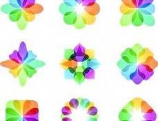 摘要彩色向量标识05