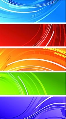 彩色漩涡banner矢量素材