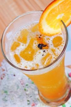 百香脐橙汁图片