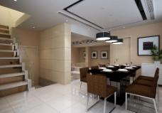 简约餐厅模型