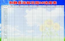 工地进程表展板图片