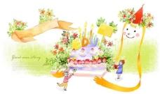 儿童插画 生日