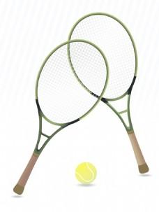 网球拍的背景
