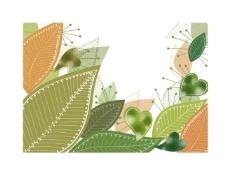 矢量素材绿叶