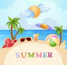 夏日旅游背景图片