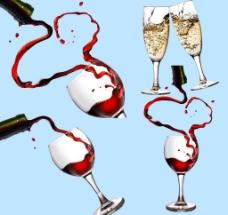 红酒香槟图片