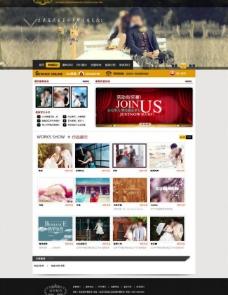 婚纱摄影网页模板图片
