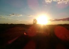 傍晚的夕阳图片