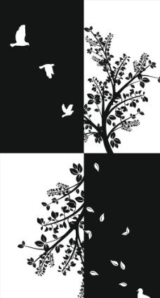 矢量藤蔓 蝴蝶图片_树木树叶_生物世界_图行天下图库