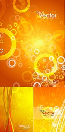 橙色暗纹背景矢量素材