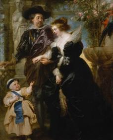 鲁本斯和妻儿图片