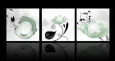 珍珠贝壳三联画图片