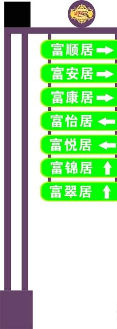 上区指示牌图片
