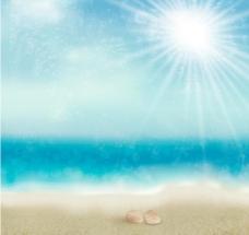 夏季海滩背景图片