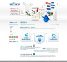 公司网站PSD模板图片