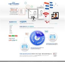 行业网站PSD模板图片