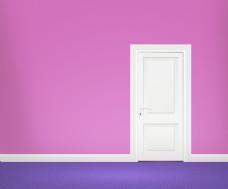 在紫罗兰色的房间的门