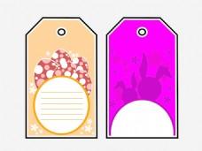 集装饰丰富多彩的复活节意格标签