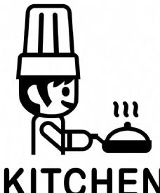厨房卡通墙贴